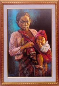 lukisan-ibu-gendong-anak